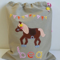 Horse Plimy or ballet or boot bag