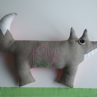 Personalised Linen Fox