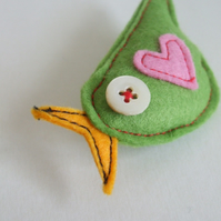 Little Green Birdy Brooch