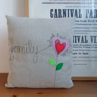 Family personalised cushion