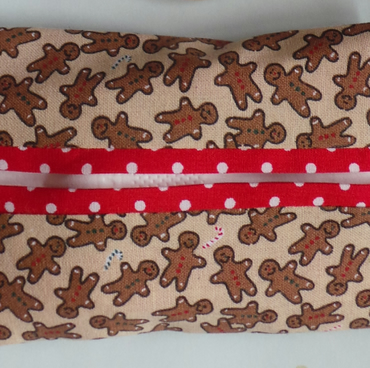 Fabric Pocket Tissue Holder Gingerbread Man Men