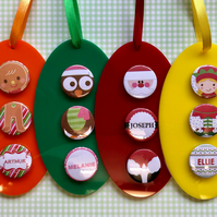 Pick n Mix Acrylic decorations - 3 THREE DECORATIONS
