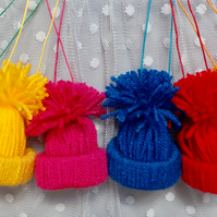 Woolly Hat decoration, Bobble Hat decoration, Pom Pom Hat decoration, Christmas