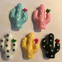 Cactus Cacti Resin Brooch Kitsch 5 colours