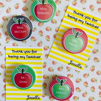 Personalised Teacher Apple End of Term Fridge Magnet