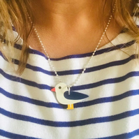 Seagull Stripey Necklace - 8 colours and designs
