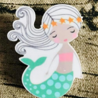 Acrylic Mermaid brooch