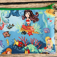 Large Fabric Handmade Mermaid Coin Purse