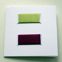 Set of 5 upcycled notecards - pretty threads set 2