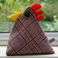 Perry the cheeky chicken doorstop