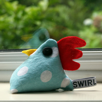 Cheeky chicken pincushionpaperweight - chicken pox