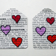 Set of 6 heart gift tags - perfect for Valentines Day