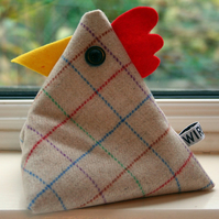 Terence Tweed D'Arby cheeky chicken doorstop