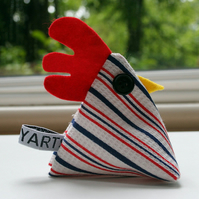 Vintage cheeky chicken pincushionpaperweight ONLY ONE IN THIS FABRIC
