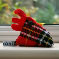 Hamish McPlaid cheeky chicken pincushion or paperweight