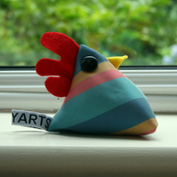 Cheeky chicken pincushion or paperweight - Trevor