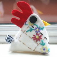 Freda the 'Nana' chicken pincushion or paperweight