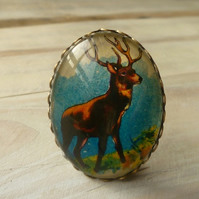 Stag Brooch