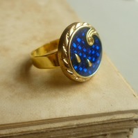 Electric Blue Vintage Ring