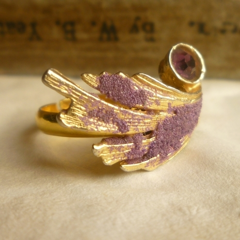 Technicolour Purple Gold Ring