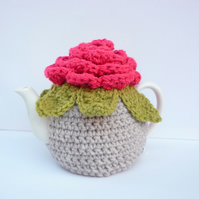 Novelty Tea Cosy Large Blooming Flower Handmade Crochet Granny Chic
