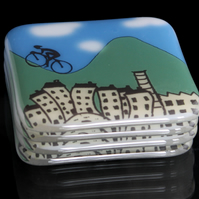 Cyclist coasters - Tour de France