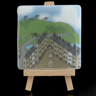 Otley Glass Cyclists Coaster
