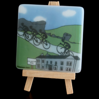 Ilkley Cyclist Coaster - Inspired by Tour de France coming to Yorkshire