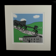 Ilkley cyclists print - inspired by Tour de Yorkshire - France