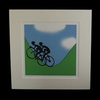 Yorkshire cyclists print - inspired by Tour de Yorkshire - France