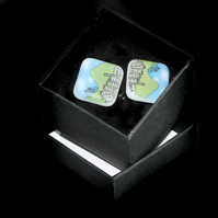 Pennine Cyclist cufflinks celebrating Tour de France
