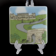 Harewood House Cyclist Coaster - Inspired by Tour de France coming to Yorkshire