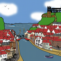 Whitby limited edition cyclist print
