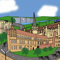 Wakefield cycling print inspired by Tour de Yorkshire