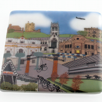 Doncaster Tour de Yorkshire 2016 glass cycling coaster