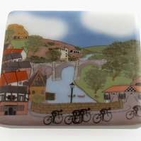 Knaresbrough Tour de Yorkshire glass coaster