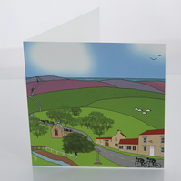 Hutton-le-Hole Yorkshire Moors greeting card