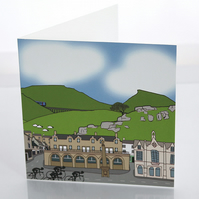 Settle yorkshire greeting card