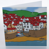 Robin Hood's Bay greeting card