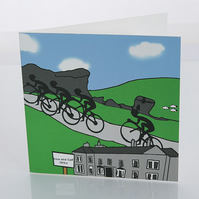 Ilkley cyclist greeting card