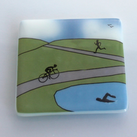 Triathlon coaster to commemerate the 2016 World Triathlon coming to Leeds