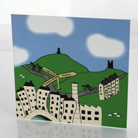 Hebden Bridge cyclist greeting card