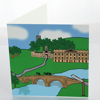 Chatsworth House greeting card