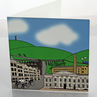 Huddersfield cyclist greeting card