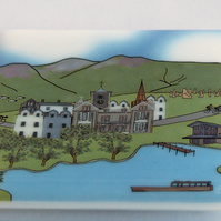 Keswick glass coaster