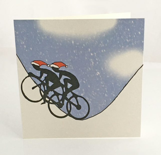 Pack of 5 Cyclist Christmas cards
