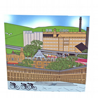 Halifax Tour de Yorkshire greeting card