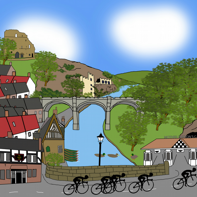 Knaresborough Tour de Yorkshire print