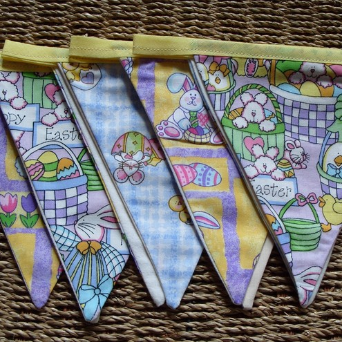Easter Bunny Fabric Bunting