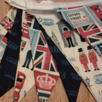 Fabric Bunting London Union Jack  Design